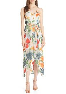 Alice + Olivia Susana Floral Midi Dress