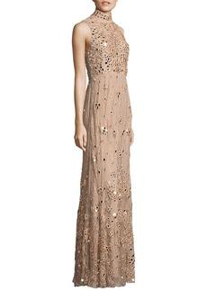 Alice + Olivia Susanne Embellished Lace Gown