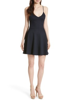 Alice + Olivia Suze Flared Spaghetti Strap Dress
