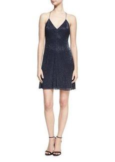 Alice + Olivia Suze V-Neck Sequined Mini Dress