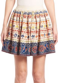Alice + Olivia Tania Embroidered Skirt