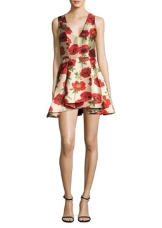Alice + Olivia Tanner Asymmetrical Fit-&-Flare Dress