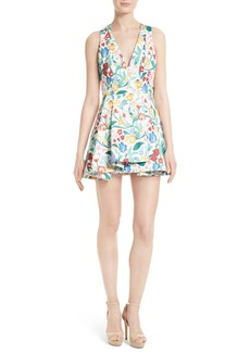 Alice + Olivia Tanner Floral Asymmetrical Dress