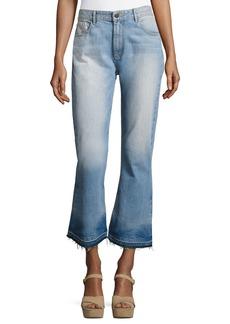 Alice + Olivia Tasha High-Waist Cropped Jeans with Released Hem