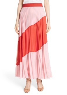 Alice + Olivia Tavi Colorblock Maxi Skirt