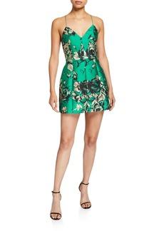 Alice + Olivia Tayla Structured Lantern Mini Dress