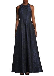Alice + Olivia Teifer T-Back A-Line Gown