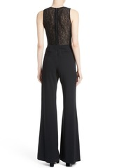 Alice + Olivia Tereza Lace Back Jumpsuit