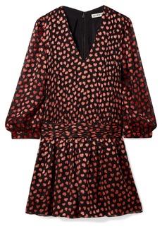 Alice + Olivia Tessie Fil Coupé Chiffon Mini Dress