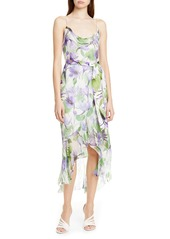 Alice + Olivia Tevi Floral Cowl Neck High/Low Dress