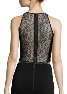 Alice + Olivia Theodora Lace Back Cropped Top