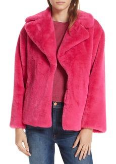 Alice + Olivia Thora Faux Fur Coat