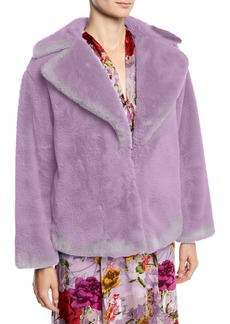 Alice + Olivia Thora Oversized Faux-Fur Chubby Coat