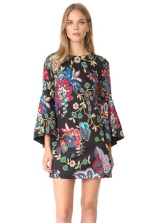 alice + olivia Thym Trumpet Sleeve Tunic Dress
