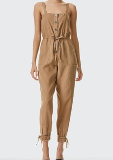 Alice + Olivia Tiana Button-Front Patch-Pocket Jumpsuit