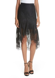 Alice + Olivia Triss High/Low Lace Skirt