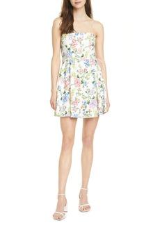 Alice + Olivia Trixie Floral Spaghetti Strap Dress