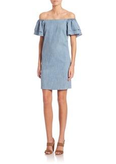 Alice + Olivia Tula Off-The-Shoulder Ruffled Dress