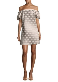 Alice + Olivia Tula Printed Off-The-Shoulder Dress