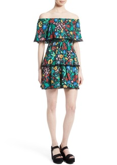 Alice + Olivia Tylie Tiered Ruffle Floral Dress