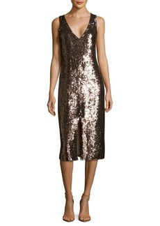 Alice + Olivia Tyra Sequin-Embellished Dress