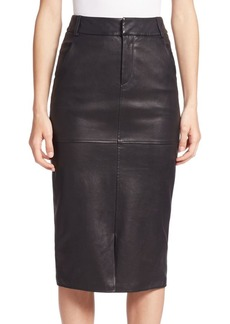 Alice + Olivia Valeri Leather Pencil Skirt