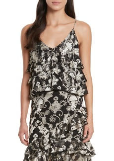 Alice + Olivia Vanessa Tiered Floral Camisole