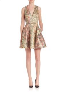 Alice + Olivia Varita V-Neck Dress
