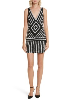 Alice + Olivia Venetia Embellished Shift Dress