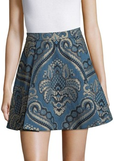 Alice + Olivia Vernon Center Pleat Mini Skirt