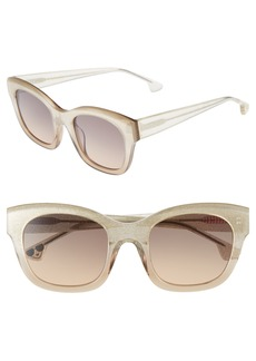 Alice + Olivia Victoria 50mm Cat Eye Sunglasses