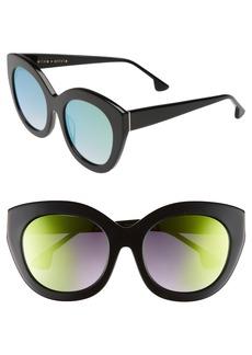 Alice + Olivia Walker 54mm Cat Eye Sunglasses