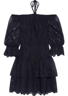 Alice + Olivia Waylon off-the-shoulder broderie anglaise mini dress