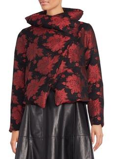 Alice + Olivia Wendell Floral Brocade Down Jacket
