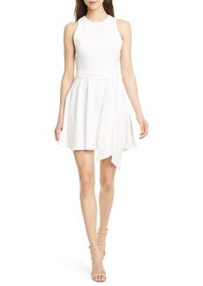 Alice + Olivia Wesley Belted Fit & Flare Dress