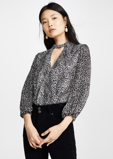 alice + olivia Willa Blouson Cutout Top