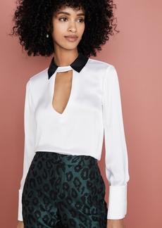 alice + olivia Willa Cutout Top
