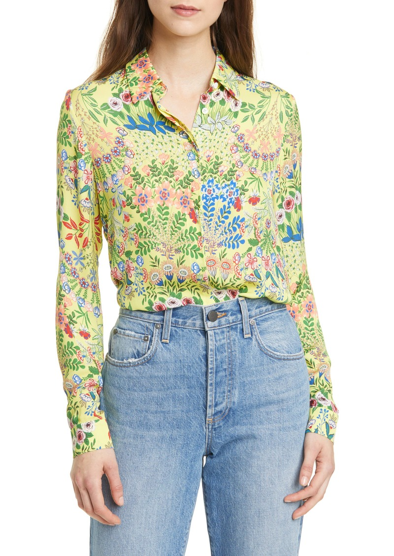 Alice + Olivia Willa Floral Print Blouse