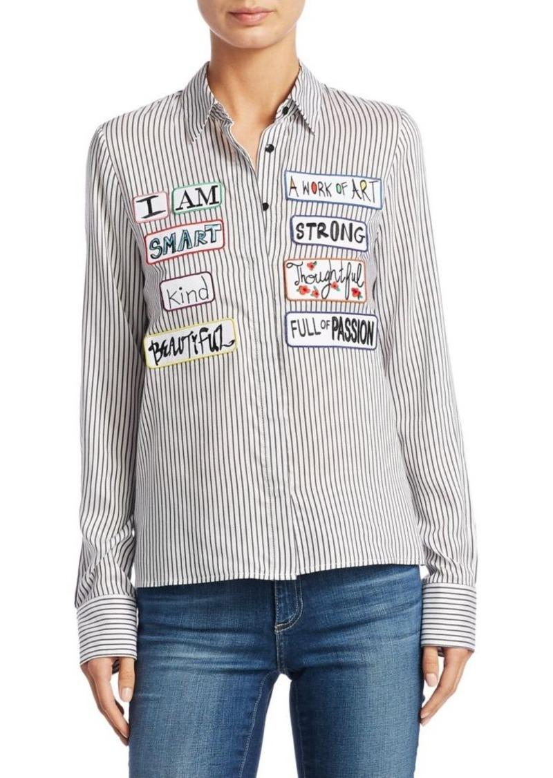 dca330608d0a13 Alice + Olivia Alice + Olivia Willa Stripe Button-Down Shirt ...