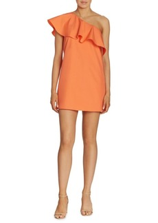 Alice + Olivia Willie One-Shoulder Silk Dress