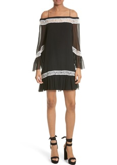 Alice + Olivia Willie Silk Chiffon Shift Dress