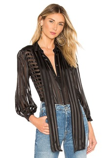 Alice + Olivia Willis Tie Neck Blouse