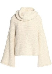 Alice + Olivia Woman Alpaca-blend Turtleneck Sweater Off-white