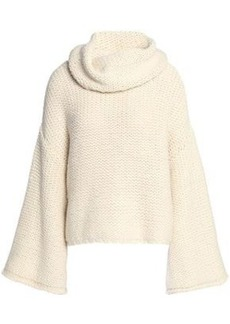 Alice + Olivia Woman Alpaca-blend Turtleneck Sweater Off-white