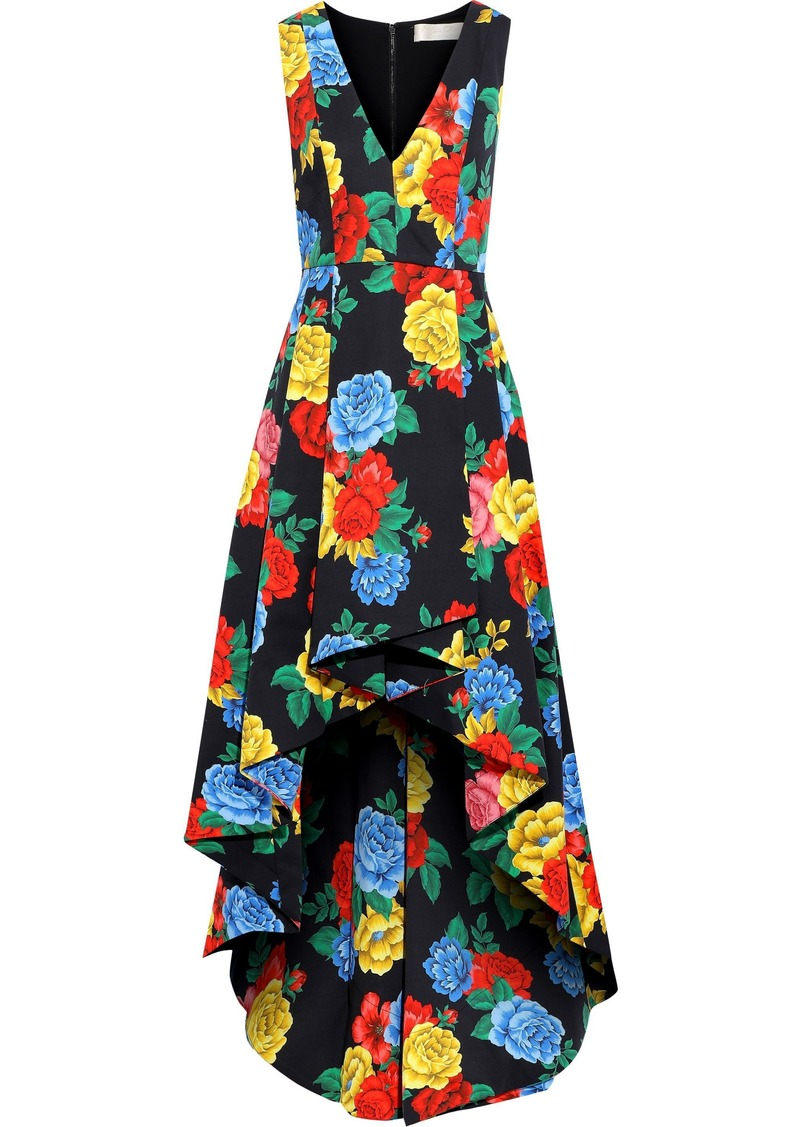 Alice + Olivia Woman Aveena Pleated Floral-print Cotton-blend Dress Multicolor