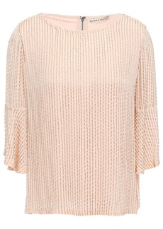 Alice + Olivia Woman Beaded Crepe De Chine Top Blush