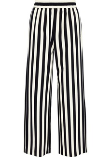 Alice + Olivia Woman Benny Striped Cady Wide-leg Pants Black