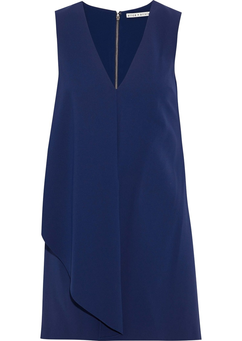 Alice + Olivia Woman Bibi Draped Crepe Mini Dress Royal Blue
