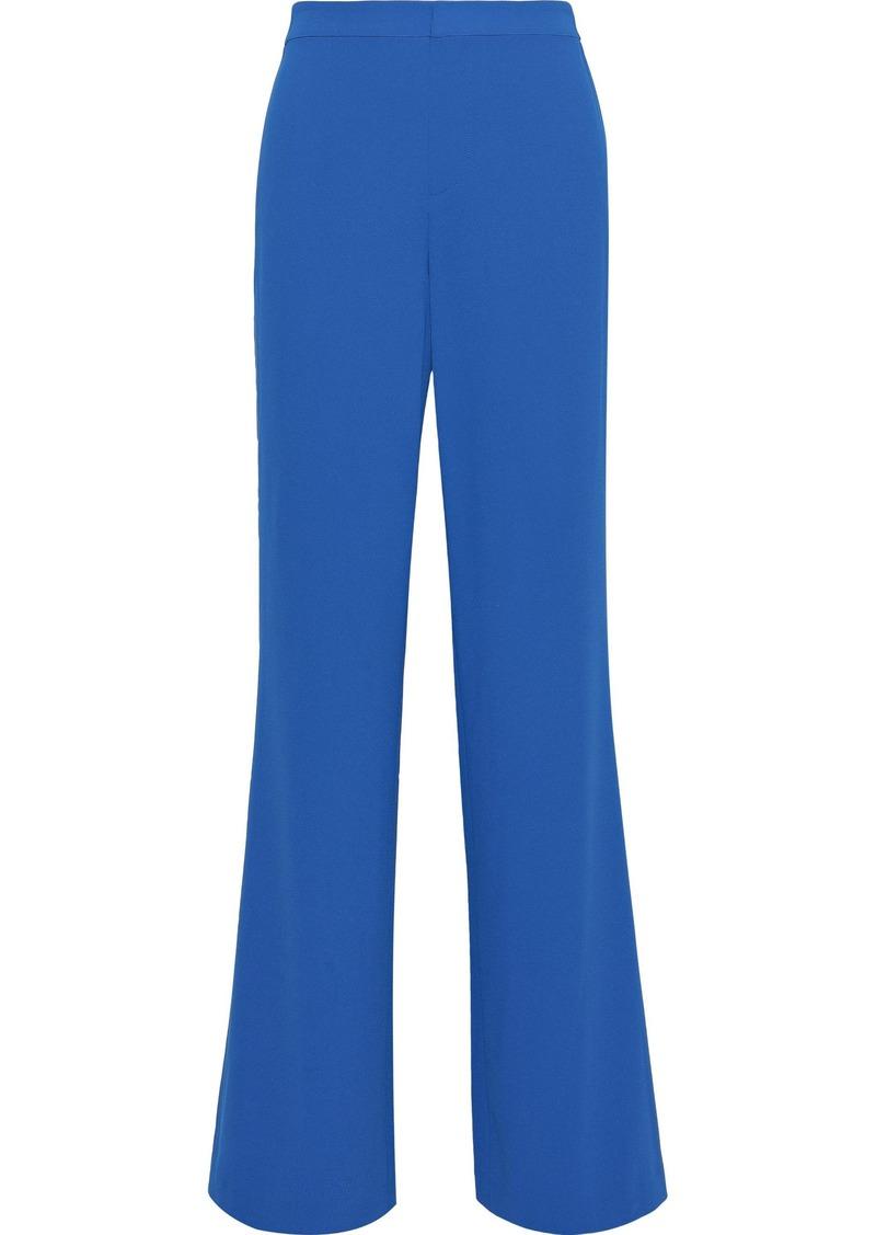Alice + Olivia Woman Bo Crepe Wide-leg Pants Blue