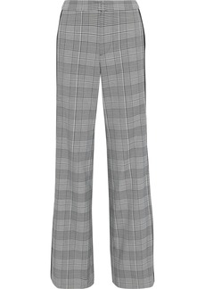 Alice + Olivia Woman Bo Prince Of Wales Checked Cady Wide-leg Pants Black